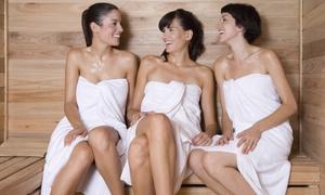 Die Sauna: Sauna-Tageskarte für Zwei, optional plus Teilkörpermassage, bei Die Sauna (bis zu 53% sparen*)