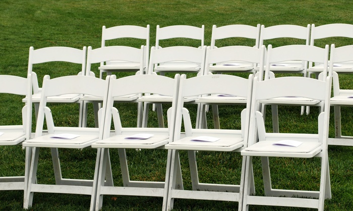 Havin' A Party - Canarsie: Rental Chairs, Tables, and Party Linens from Havin' A Party (Half Off). Two Options Available.