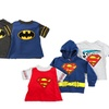 Superman and Batman Toddlers' Hoodie, T-Shirt, and Cape Set