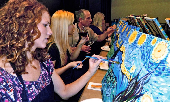 Art Social - Multiple Locations: Three-Hour Painting Class for Two or Four at Local Bar or Restaurant from Art Social (Up to 53% Off)