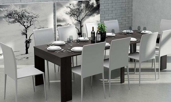 table extensible 50cm 270cm groupon. Black Bedroom Furniture Sets. Home Design Ideas