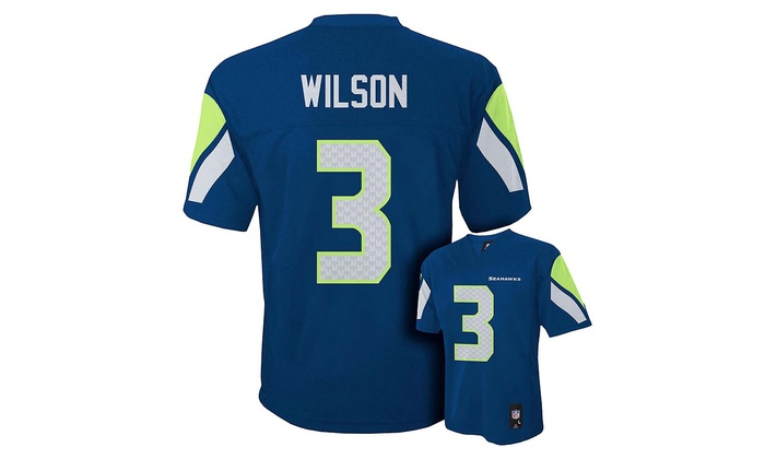 Boys' Russell Wilson Seattle Seahawks Home Youth Jersey