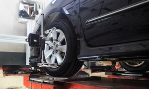 Super Cheap Tyres & Auto Services: Full Wheel Alignment + Balance - One ($49) or Two Vehicles ($98) at Super Cheap Tyres & Auto Services (Up to $220 Value)