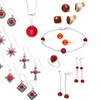 Coral Gemstone Drop Jewelry Mystery Deal (3-Piece)