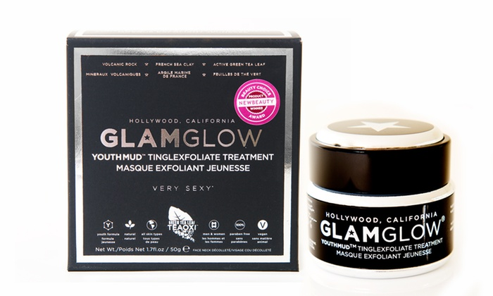 Glam Glow Mud Treatment or Mask: Glam Glow Super-Mud Clearing Treatment or Tingling & Exfoliating Mud Mask