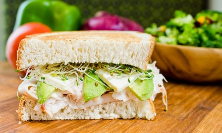 $11 for $18 Worth of Handmade Sandwiches and Sides at Press'd Sandwich Shop