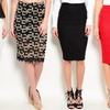 Women's Shimmer Pencil Skirts