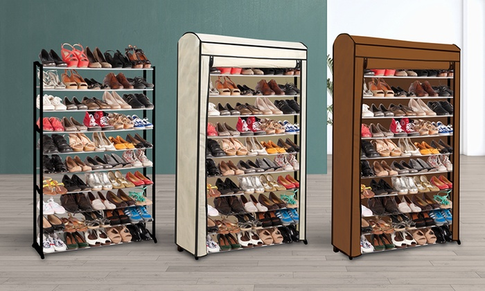 meuble range chaussures 50 paires groupon. Black Bedroom Furniture Sets. Home Design Ideas