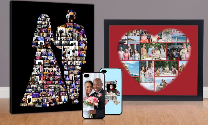 Collage.com: Custom Photo-Collage Phone Case, Canvas, or Fleece Blanket from Collage.com (Up to 62% Off). Free Shipping.