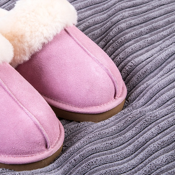 b3435bbb9ae4 Ladies  Suede Sheepskin Slippers
