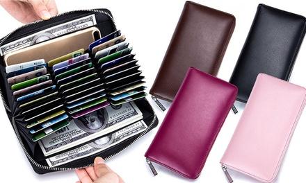 Portafoglio porta carte in pelle