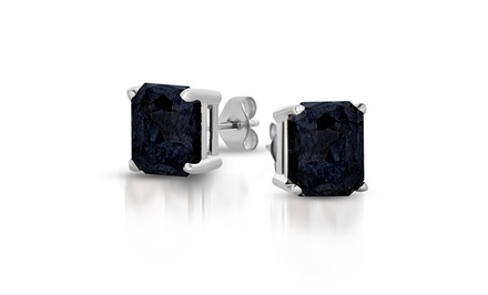 1.00 CTTW or 1.50 CTTW Black Diamond Stud Earrings