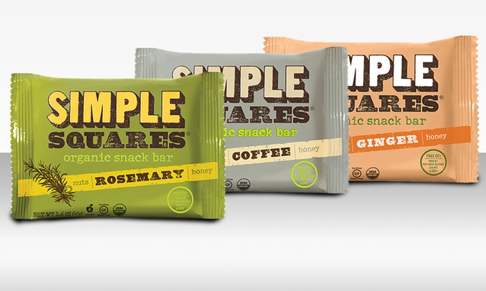 12-Pack of Simple Squares Organic Snack Bars: 12-Pack of Simple Squares Organic Snack Bars. Multiple Flavors Available.