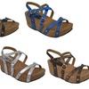 Helena Cross-Strap Women's Wedge Sandals
