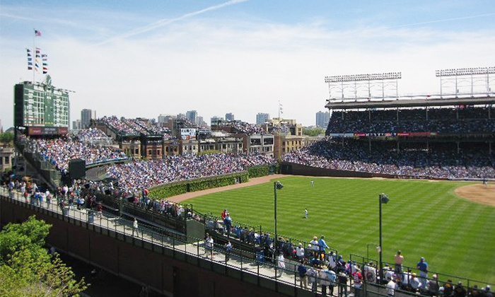 Wrigley Rooftop - Wrigley View Rooftop: Cubs Game Rooftop Seating at Wrigley Rooftop with All-Inclusive Food and Drink (Up to 59% Off). Nine Games Available.