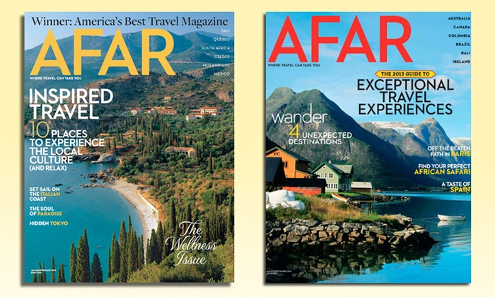 AFAR Magazine: $10 for a One-Year Subscription to AFAR Magazine ($20 List Price)