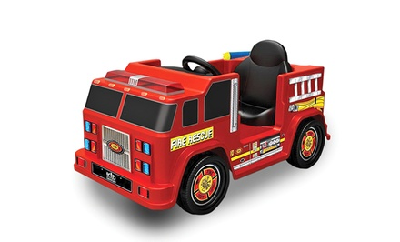 Kid Motorz 6V Ride-On Fire Engine with Water Gun