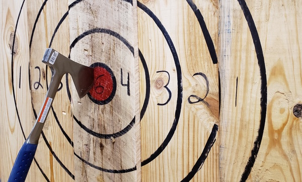 Indoor Axe-Throwing Session - Twisted Axes Throw House | Groupon
