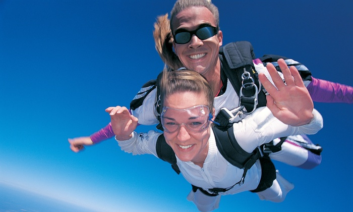 Illinois Skydiving Center - DROP ZONE: $185 for a Tandem Skydiving Jump with DVD Footage of the Dive at Illinois Skydiving Center ($300 Value)