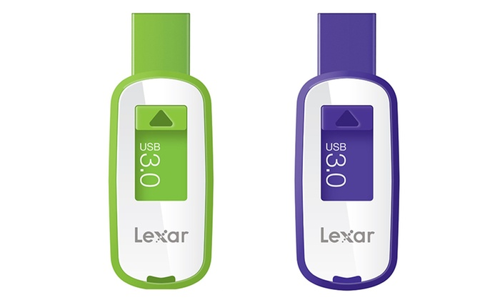 32GB or 64GB Lexar JumpDrive S23 USB 3.0 Flash Drive: Lexar JumpDrive S23 USB 3.0 Flash Drive. 32GB in Green or 64GB in Purple Available from $16.99–$25.99. Free Returns.