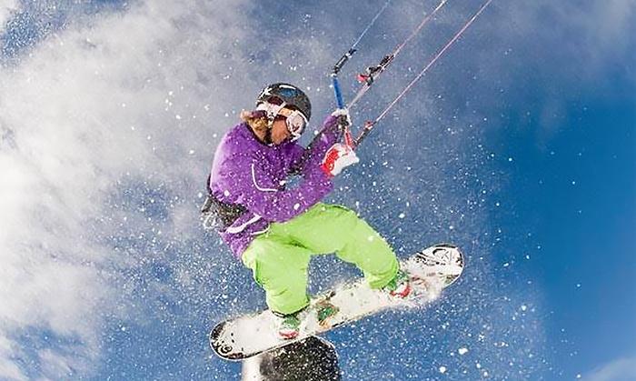 Snokite - Snokite: Intro to Snow-Kiting Lesson for One, Two, or Four at Snokite (Up to 64% Off)