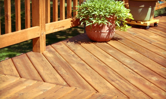 Benchmark General Contracting, Inc. - Benchmark General Contracting, Inc.: Small, Medium, or Large Deck Cleaning with Staining and Sealing from Benchmark General Contracting (Up to 58% Off)