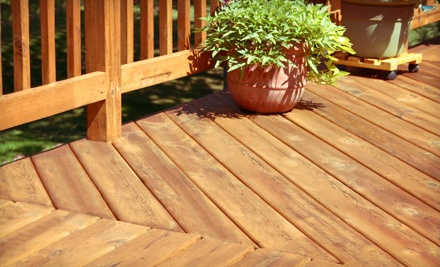 Deck Cleaning for a Small-Sized Deck (a $220 value) - Benchmark General Contracting, Inc. in