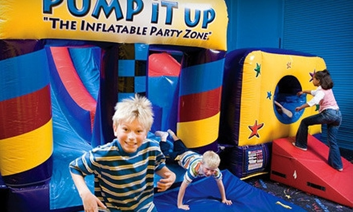 Pump It Up - Taku / Campbell: 3 or 10 Jump Sessions at Pump It Up (Up to 63% Off)