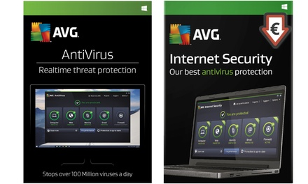 Licencia de 2 años para 3 ordenadores de AVG Antivirus o Internet Security 2017