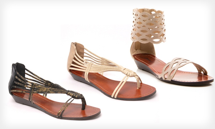GoMax Wedge Sandals: $24.99 for GoMax Wedge Sandals (Up to $47 List Price). 2 Styles Available. Free Shipping and Returns.