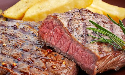 image for Sirloin or Rib-Eye Steak Meal for Two at The Rosehip (Up to 55% Off)