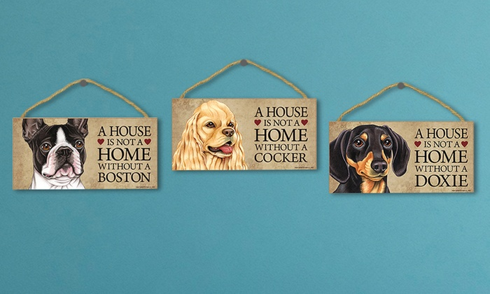 Hanging Decorative Dog Signs: Hanging Decorative Dog Signs. Multiple Designs Available. Free Returns.