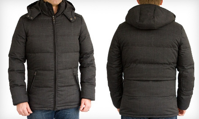 Elie Tahari Men's Down Puffer Jacket: $189 for an Elie Tahari Men's Down Puffer Jacket ($695 List Price). Free Shipping. Four Sizes Available.