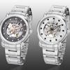 Stührling Original Men's Automatic Skeleton Bracelet Watch