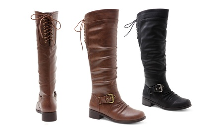 XOXO March Women's Tall Boots. Wide Calf Available.