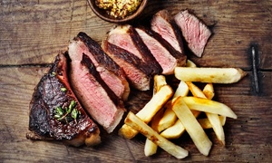 The Salty Dog: 8oz Sirloin Steak Meal for Two or Four at The Salty Dog