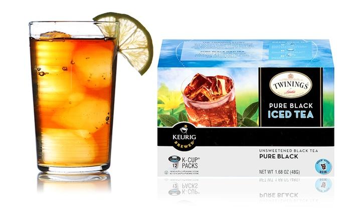 3-Pack of Twinings Pure Black Iced Tea Single-Serve Cartridges: 36-Count Pack of Twinings Pure Black Iced Tea K-Cups