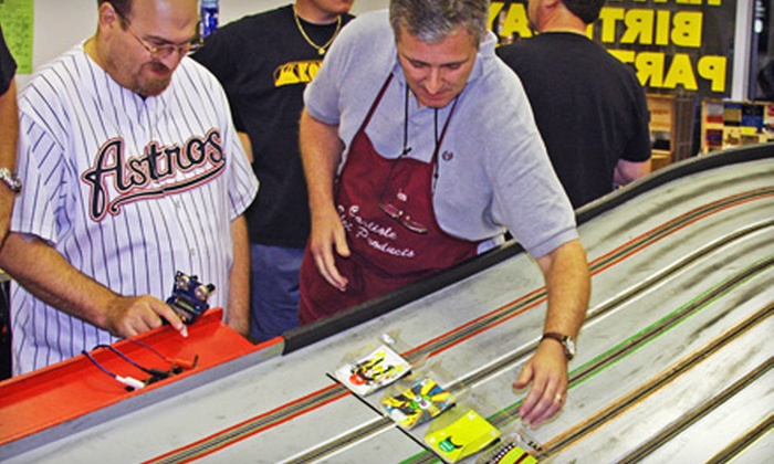 Slot Cars of Katy - Victoria: One-Hour Track Rental with Cars for One, Two, or Four at Slot Cars of Katy (50% Off)