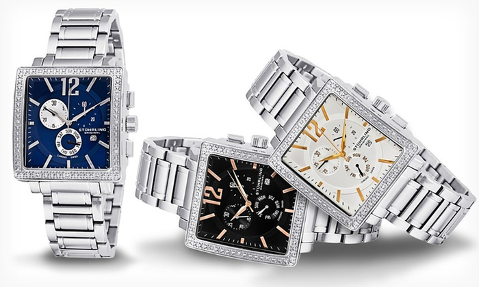 Stuhrling Original Watches with Diamonds: Men's and Women's Diamond-Accent Stuhrling Original Watches (Up to 90% Off). Free Shipping and Free Returns.