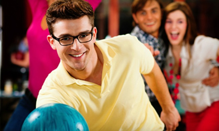 Spare Time & Shaker Bowl - Multiple Locations: Two Games of Bowling and Shoe Rental for Two or Four at Holiday Bowl (Half Off)