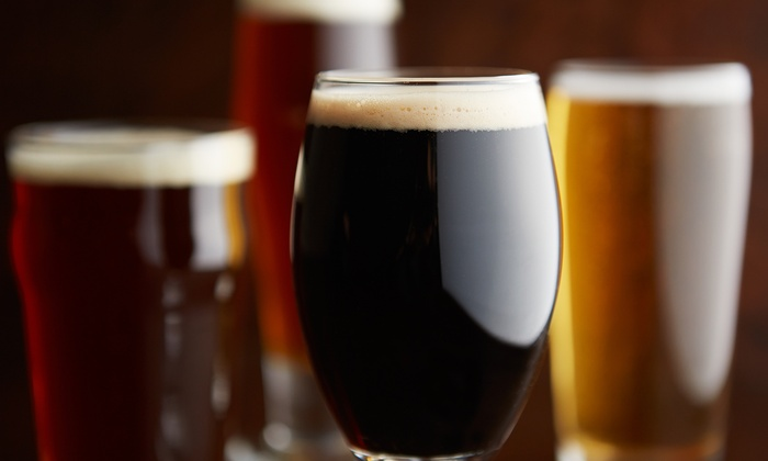 Block Brewing Company - Howell: $20 for a Logo Pint Glass, Growler, and Growler Fill at Block Brewing Company ($34 Value)