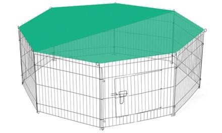 Box recinto per animali con rete parasole