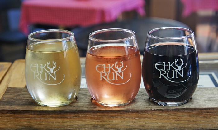 Elk Run Vineyards - Mount Airy: Wine Flights for Two or Four with Credit Towards Bottle Purchases at Elk Run Vineyards (Up to 63% Off)