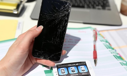 iPhone or iPad Glass Repair at TCR: Triangle Cellular Repair and QuikFix Phone Repair (Up to 74% Off).