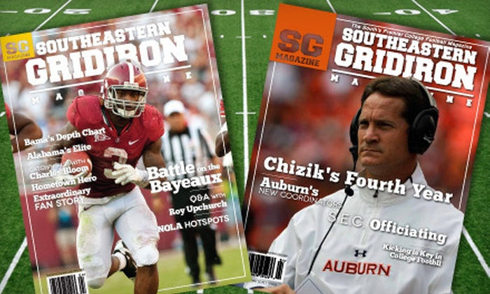 "Southeastern Gridiron Magazine - Montgomery: One-Year Silver or Gold or Two-Year Gold Subscription to ""Southeastern Gridiron Magazine"" (Up to 75% Off)"