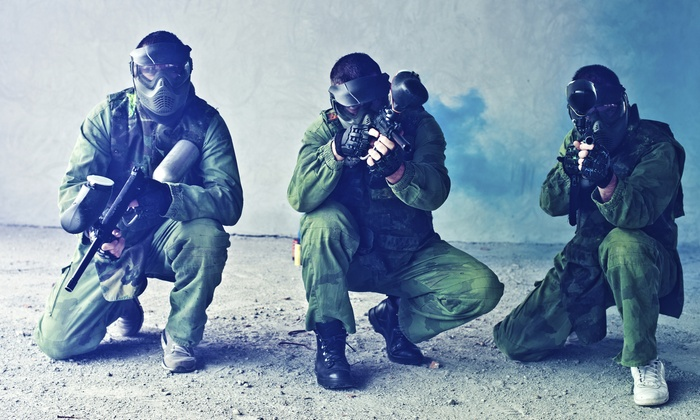 Richmond Indoor Paintball - Richmond City Centre: Paintball Package for  2, 4, 8, or 12 with Gear and Paintballs at Richmond Indoor Paintball (Up to 63% Off)