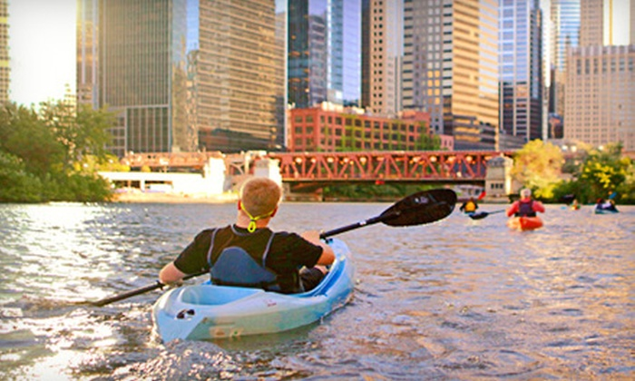 Wateriders - Riverwalk: Architecture-and-History or Gangsters Kayak Tour for Two or Four from Wateriders (Half Off)