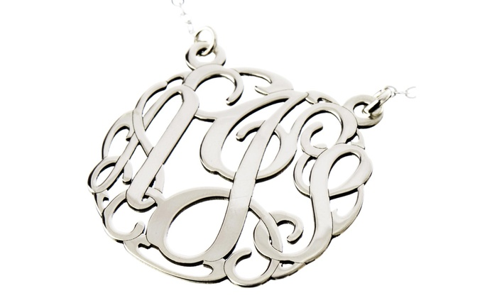 AJ's Collection: One Monogrammed Necklace or Personalized Jewelry from AJ's Collection (Up to50% Off)