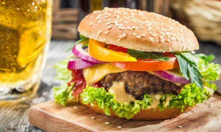 Burger with Two Toppings and a Beer for Two or Four at Black Bear Saloon (Up to 55% Off)