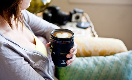 Camera Lens Coffee Mug in Black or White